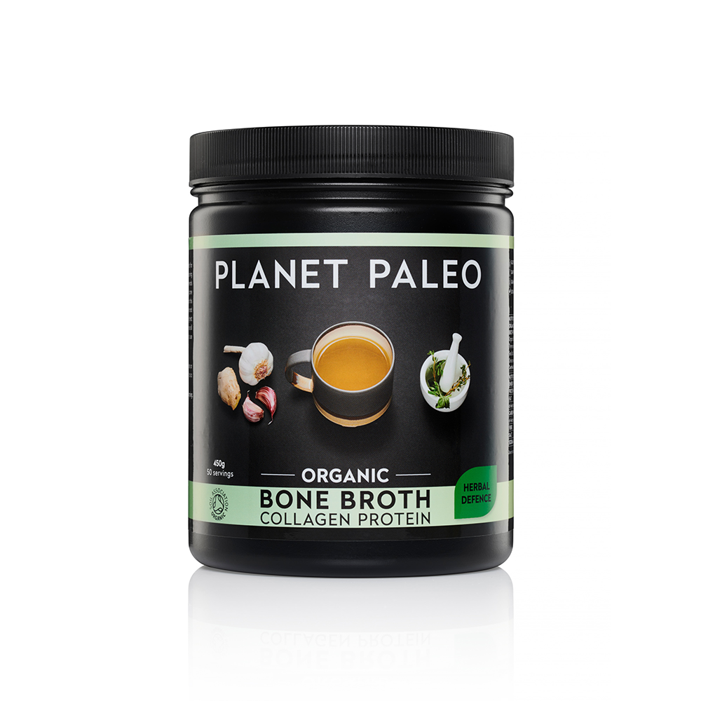 Organic Bone Broth Collagen Protein Herbal Defence 450g