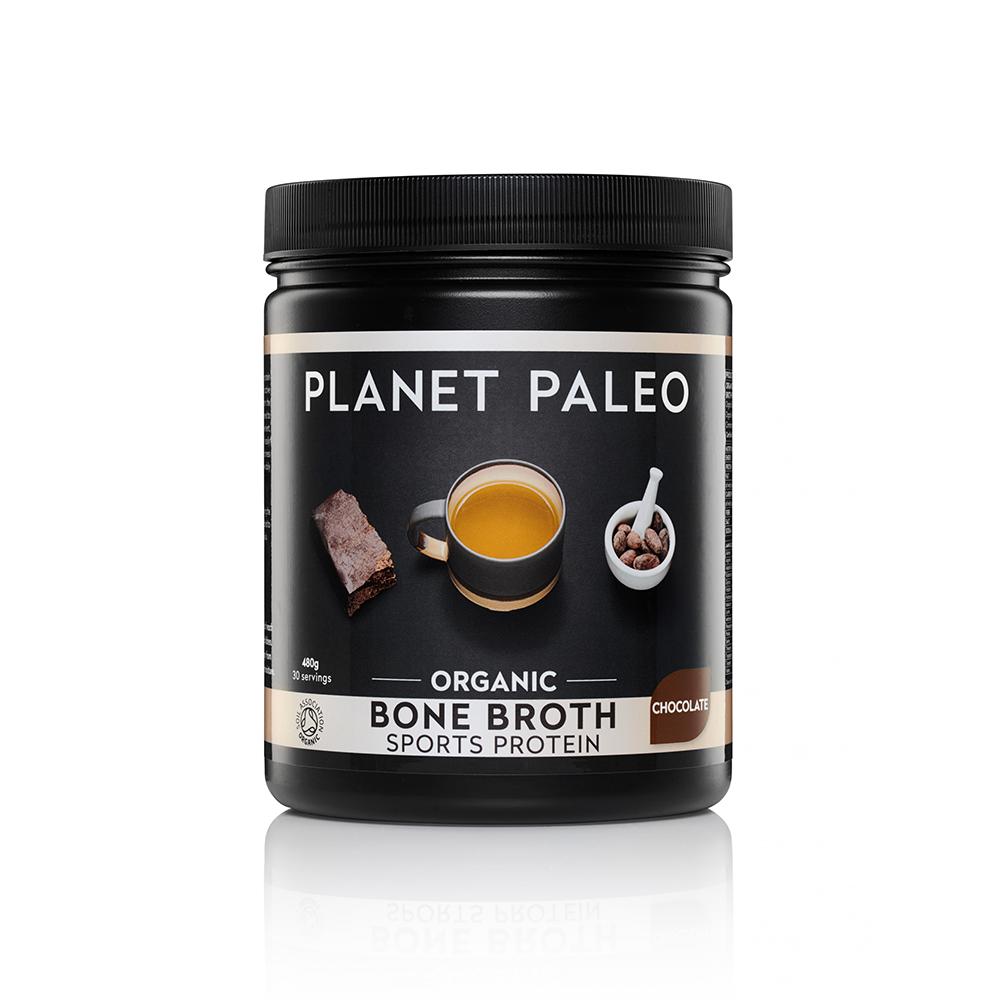 Organic Bone Broth Sport Protein Chocolate 480g