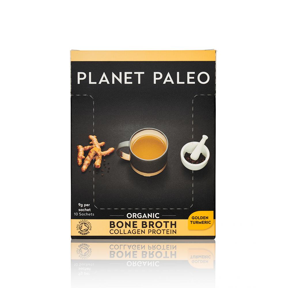 Organic Bone Broth Collagen Protein Golden Turmeric CASE 10's
