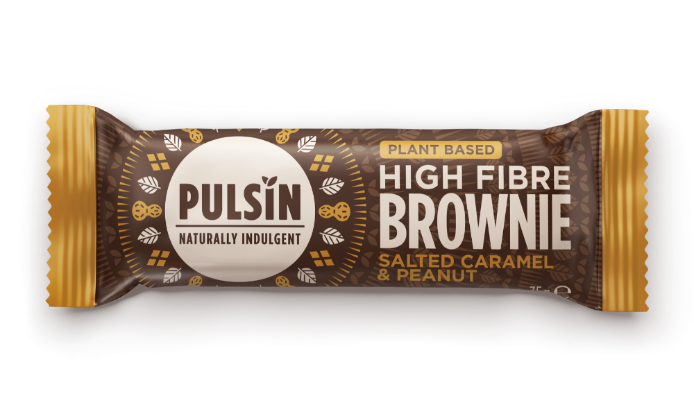 Plant Based High Fibre Brownie Salted Caramel & Peanut 18 x 35g CASE