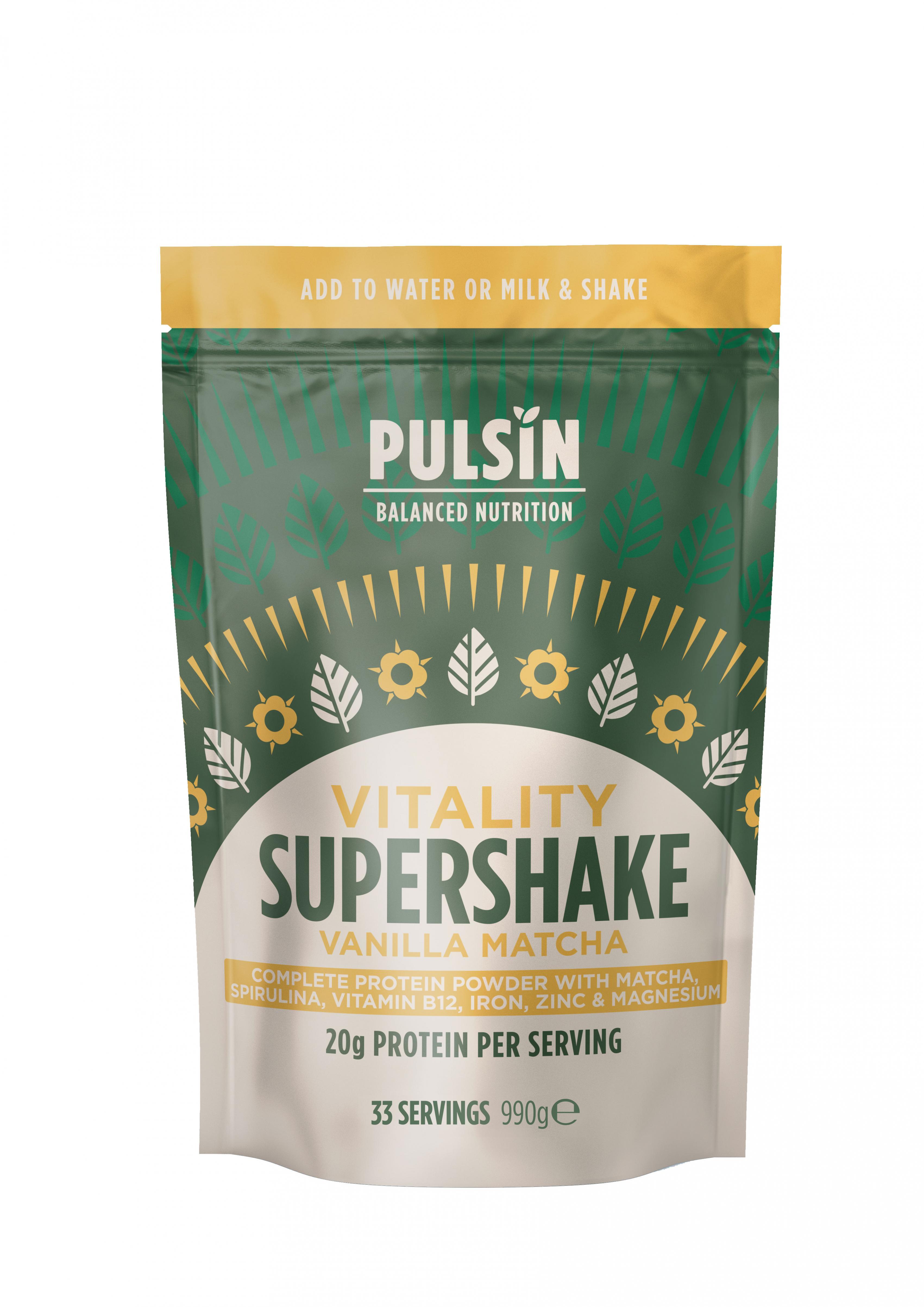 Vitality Supershake Vanilla Matcha 990g