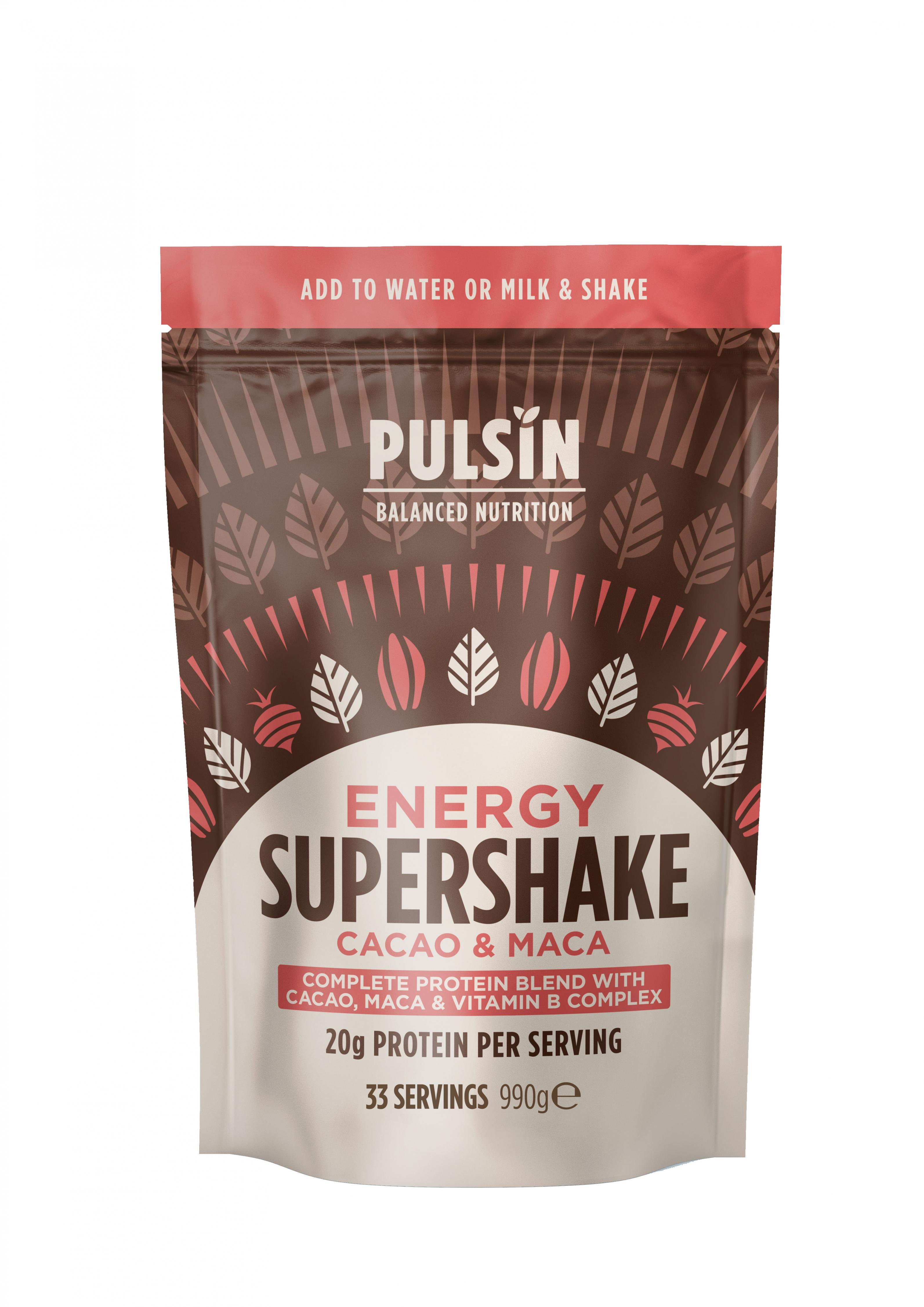 Energy Supershake Cacao & Maca 990g