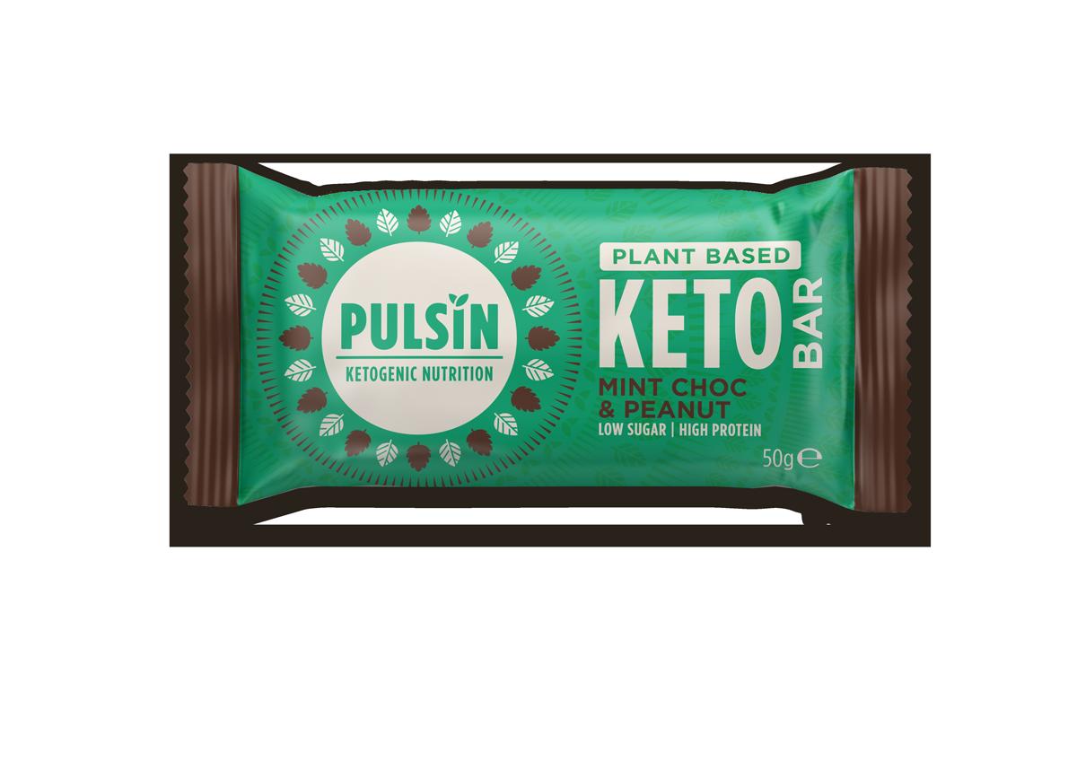 Plant Based Keto Bar Mint Choc & Peanut 18 x 50g CASE