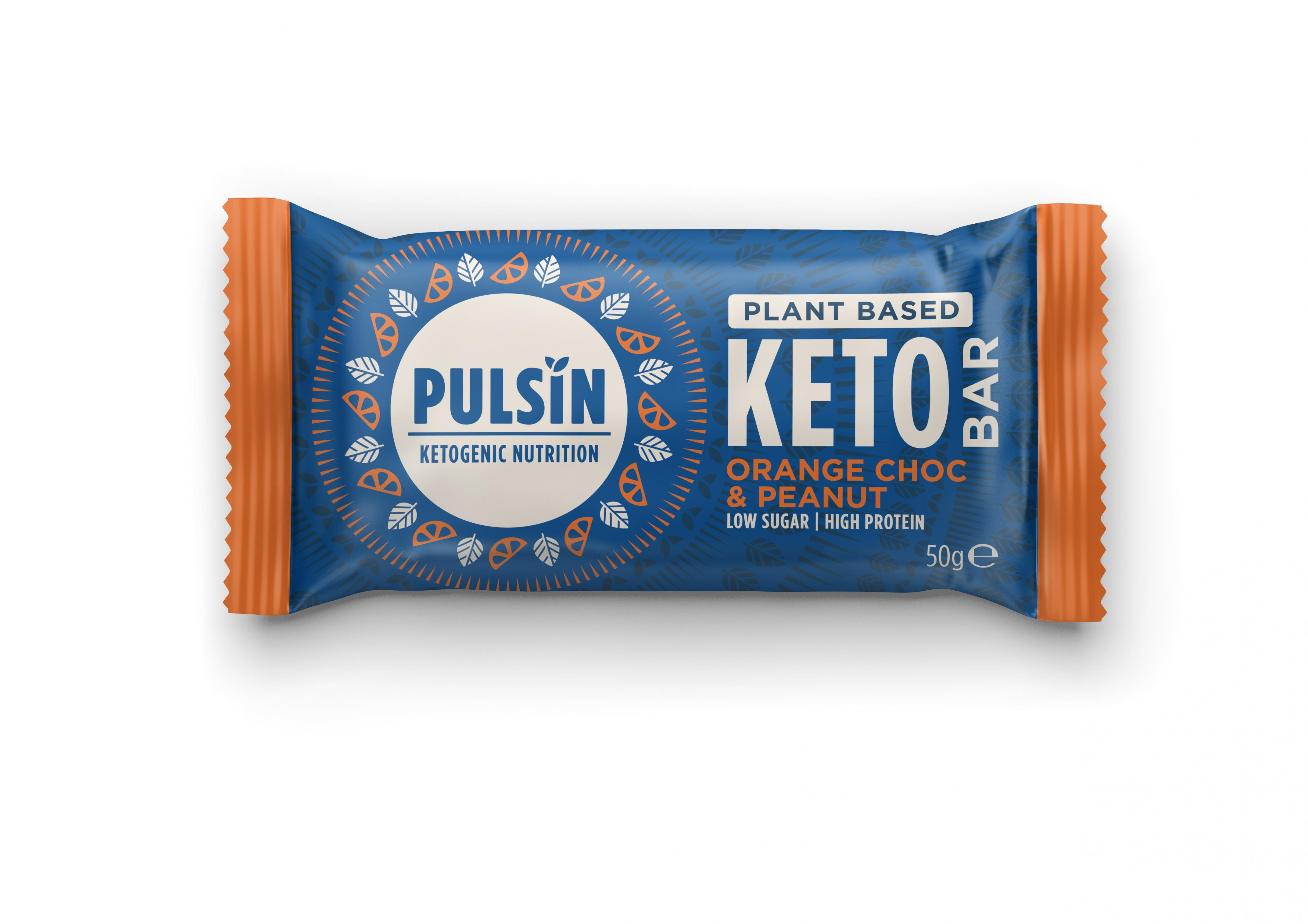 Plant Based Keto Bar Orange Choc & Peanut 18 x 50g CASE