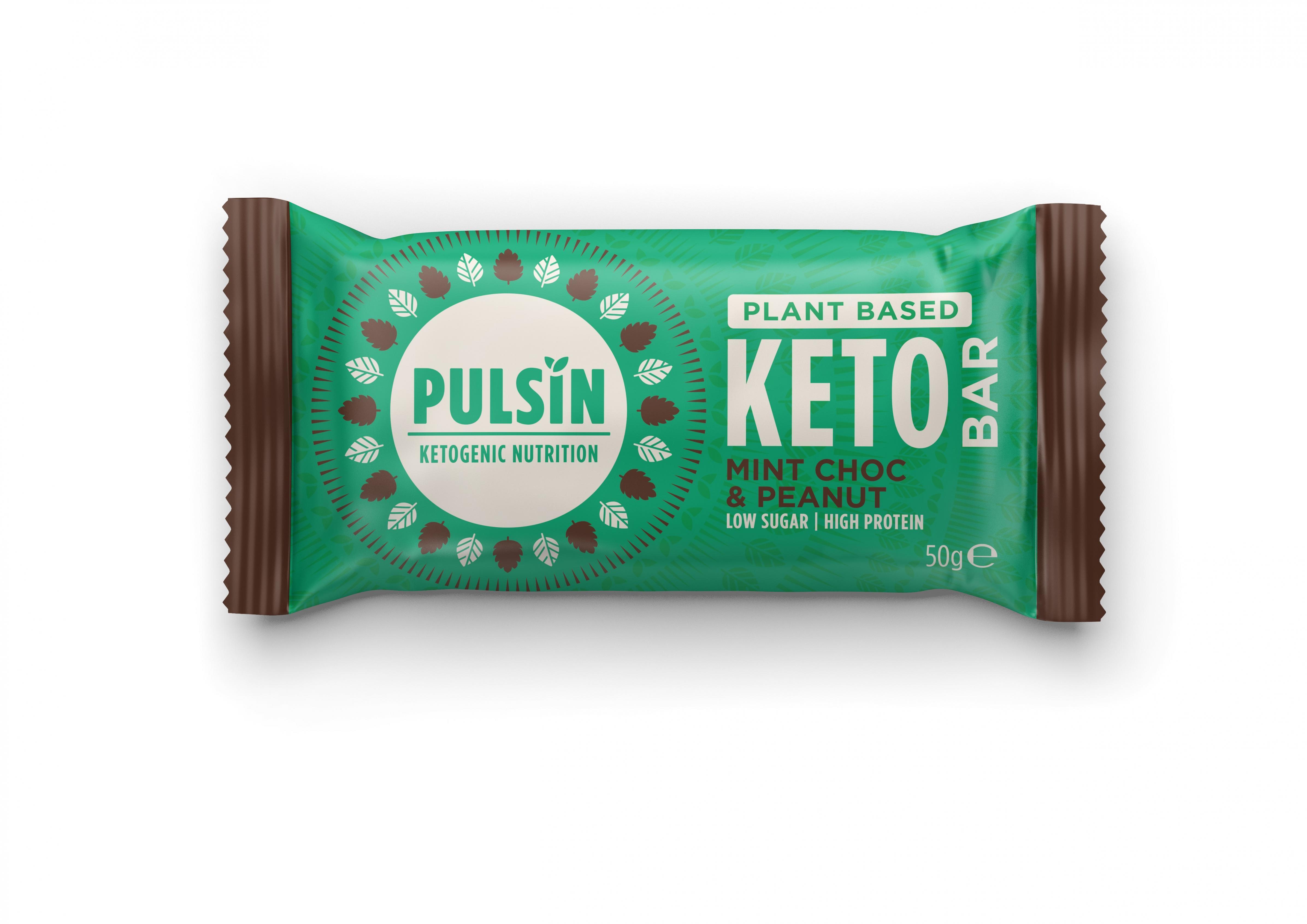 Plant Based Keto Bar Mint Choc & Peanut 50g SINGLE