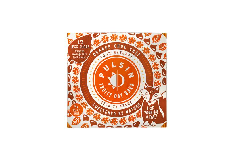Fruity Oat Bar Orange Choc Chip 5 x 25g