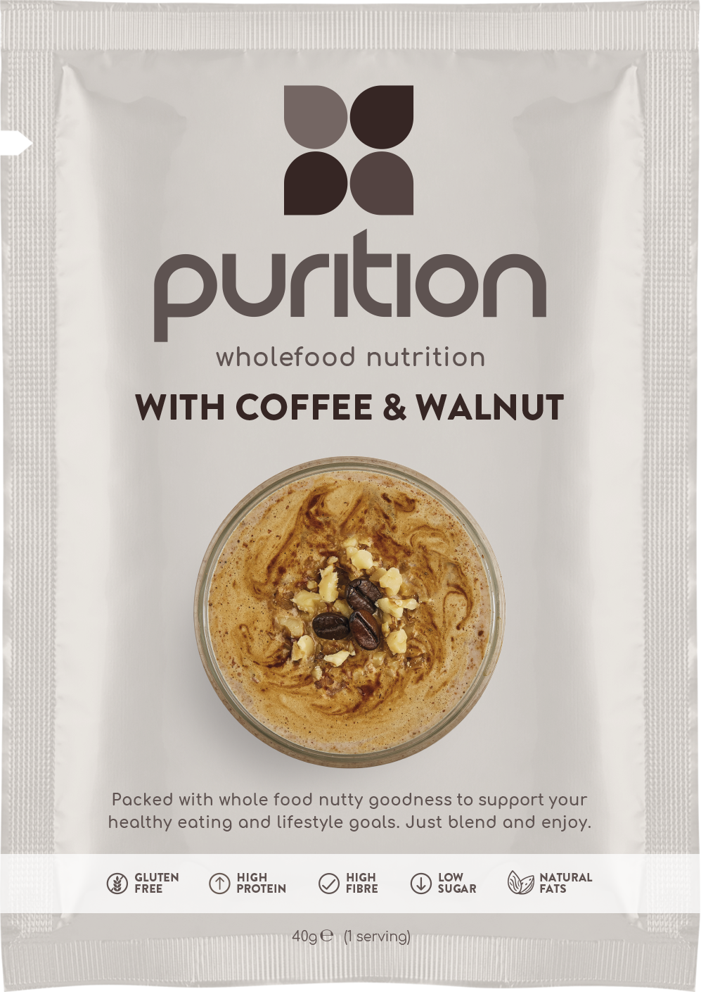 Wholefood Nutrition With Coffee & Walnut CASE 8 x 40g