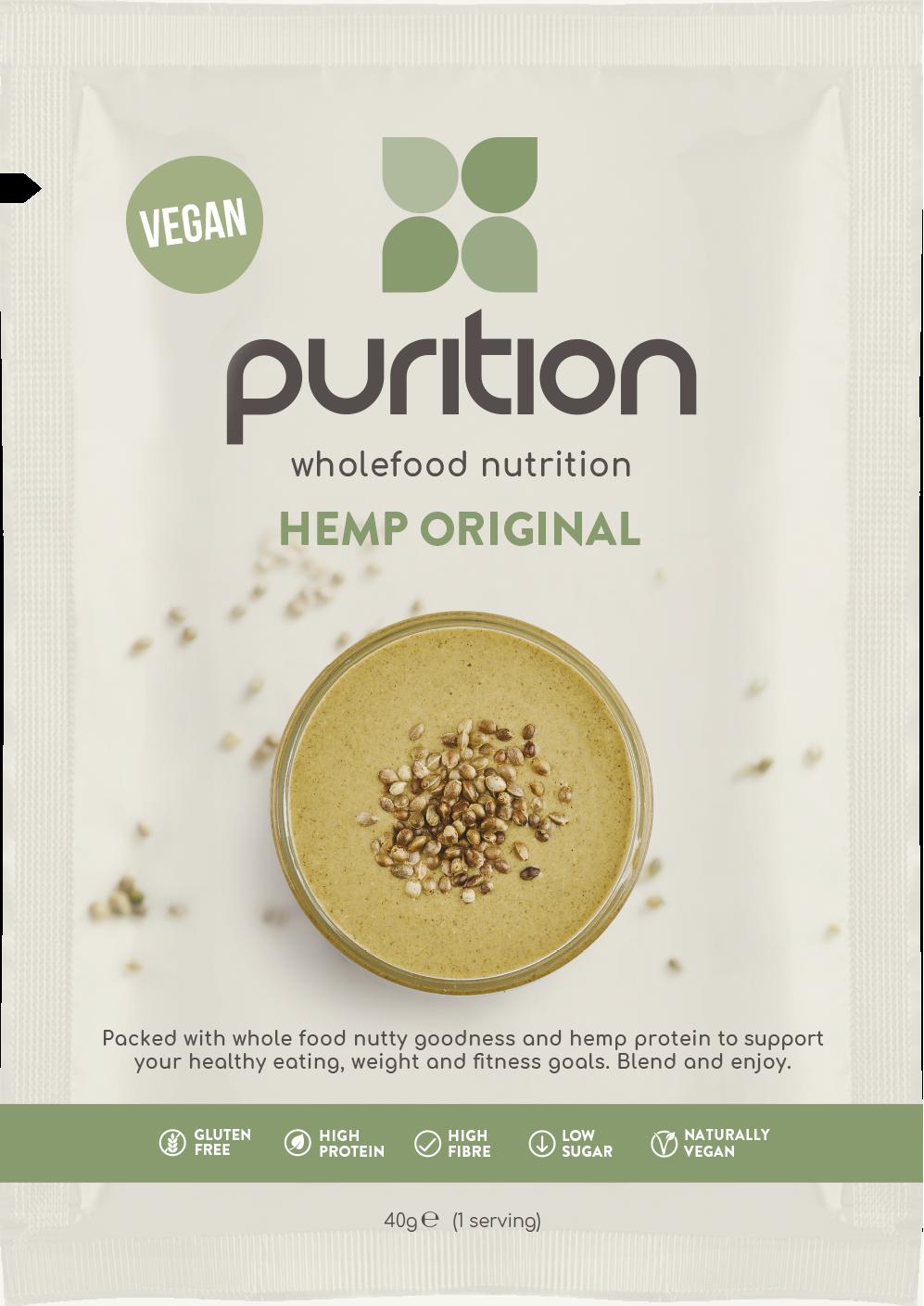 Wholefood Nutrition Hemp Original CASE 8 x 40g