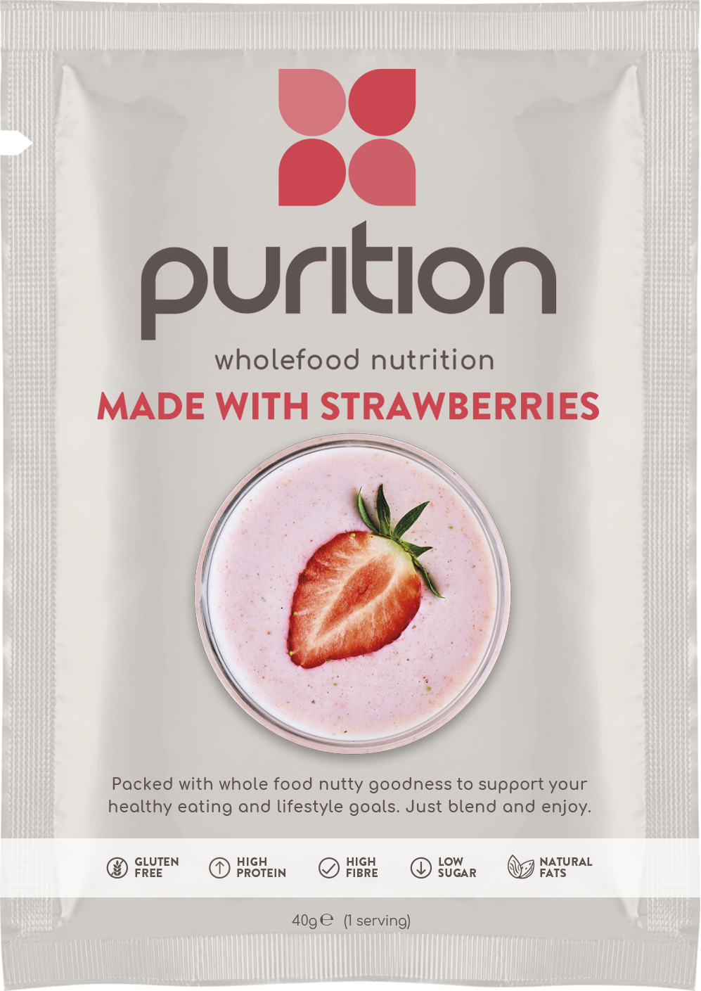 Wholefood Nutrition With Strawberries SINGLE SACHET 40g