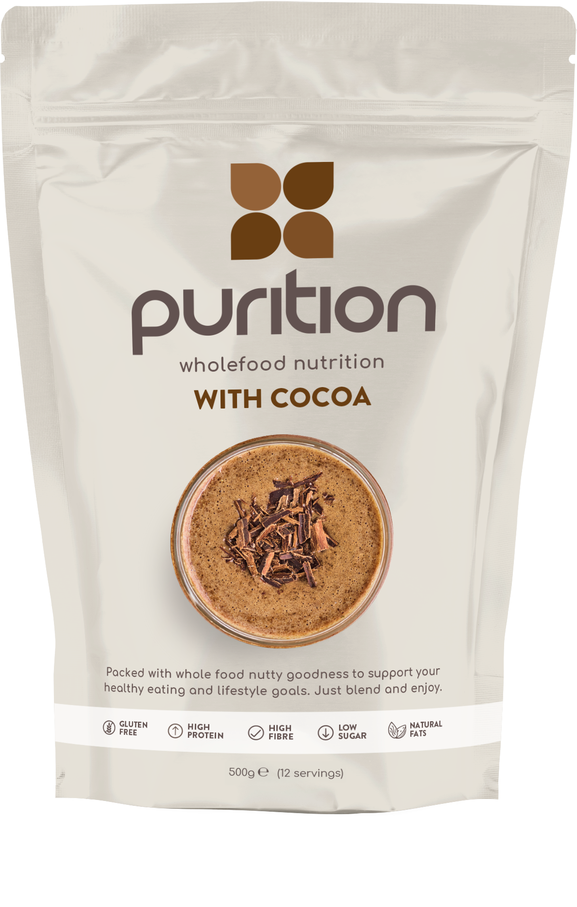 Wholefood Nutrition With Cocoa 500g