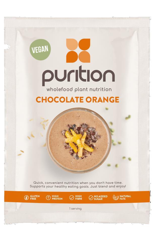 VEGAN Wholefood Plant Nutrition Chocolate Orange SINGLE SACHET 40g