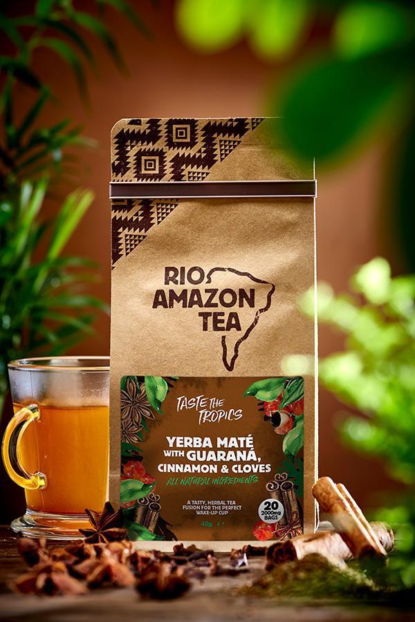 Yerba Mate With Guarana, Cinnamon & Cloves Teabags 40's