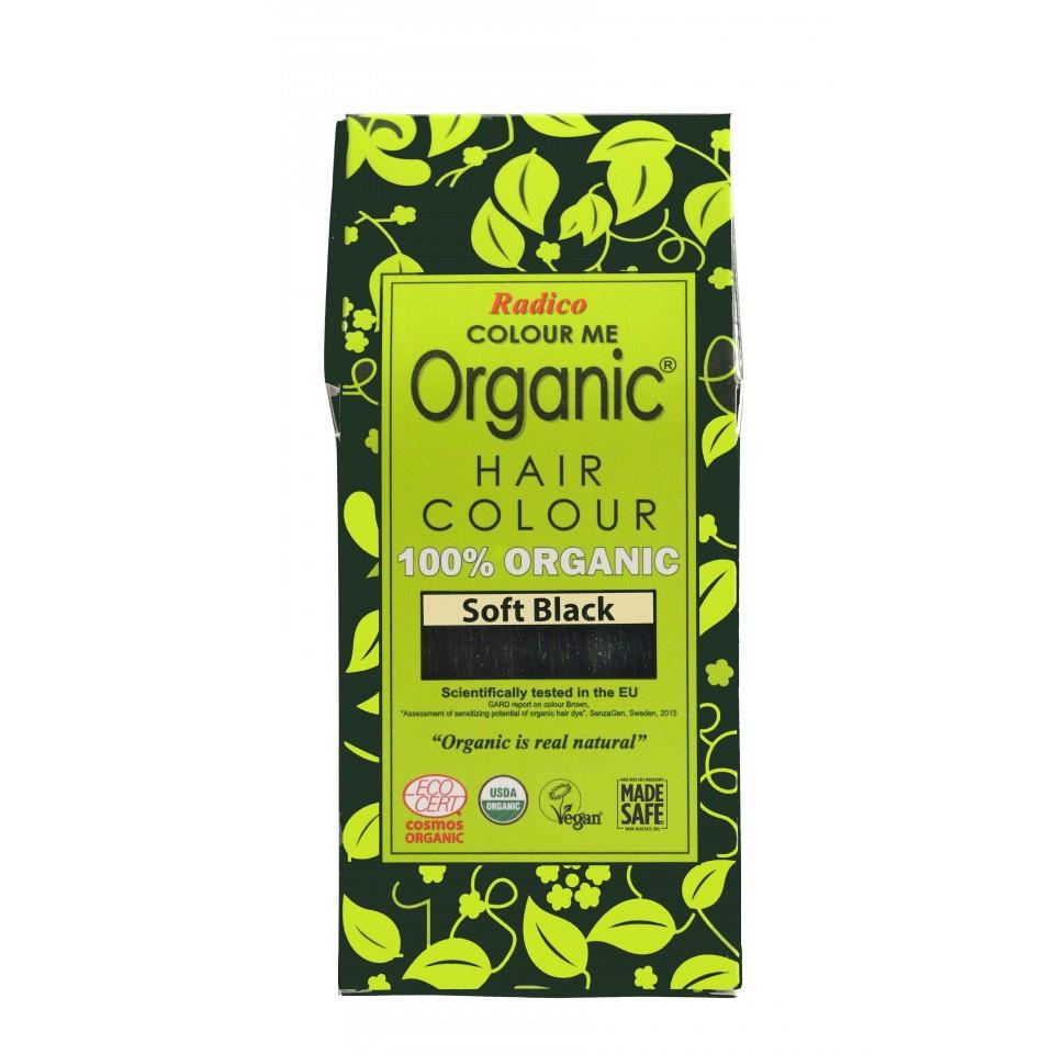 Organic Hair Colour Soft Black 100g