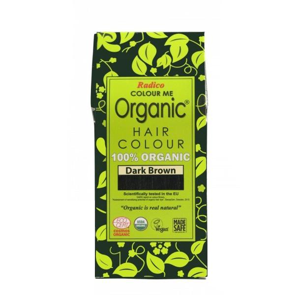 Organic Hair Colour Dark Brown 100g