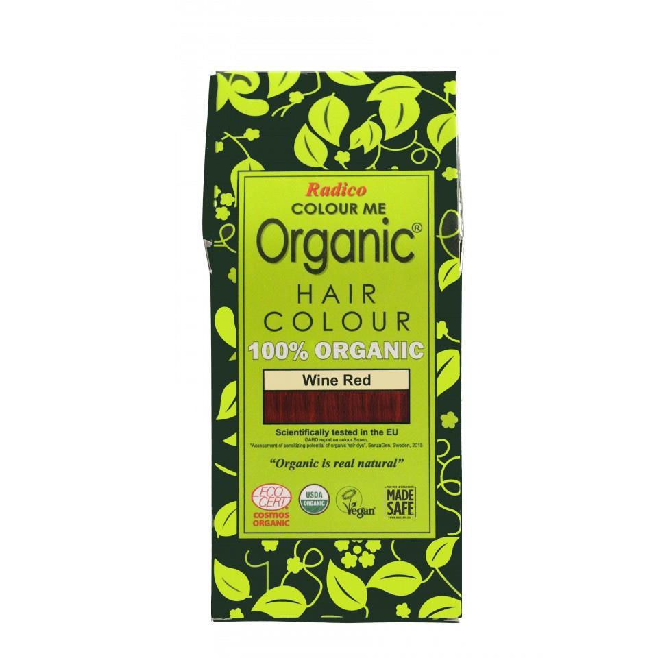 Organic Hair Colour Wine Red 100g