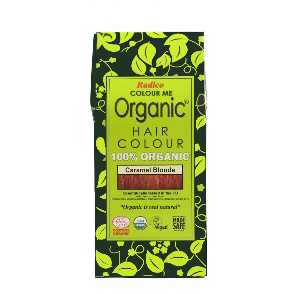 Organic Hair Colour Caramel Blonde 100g