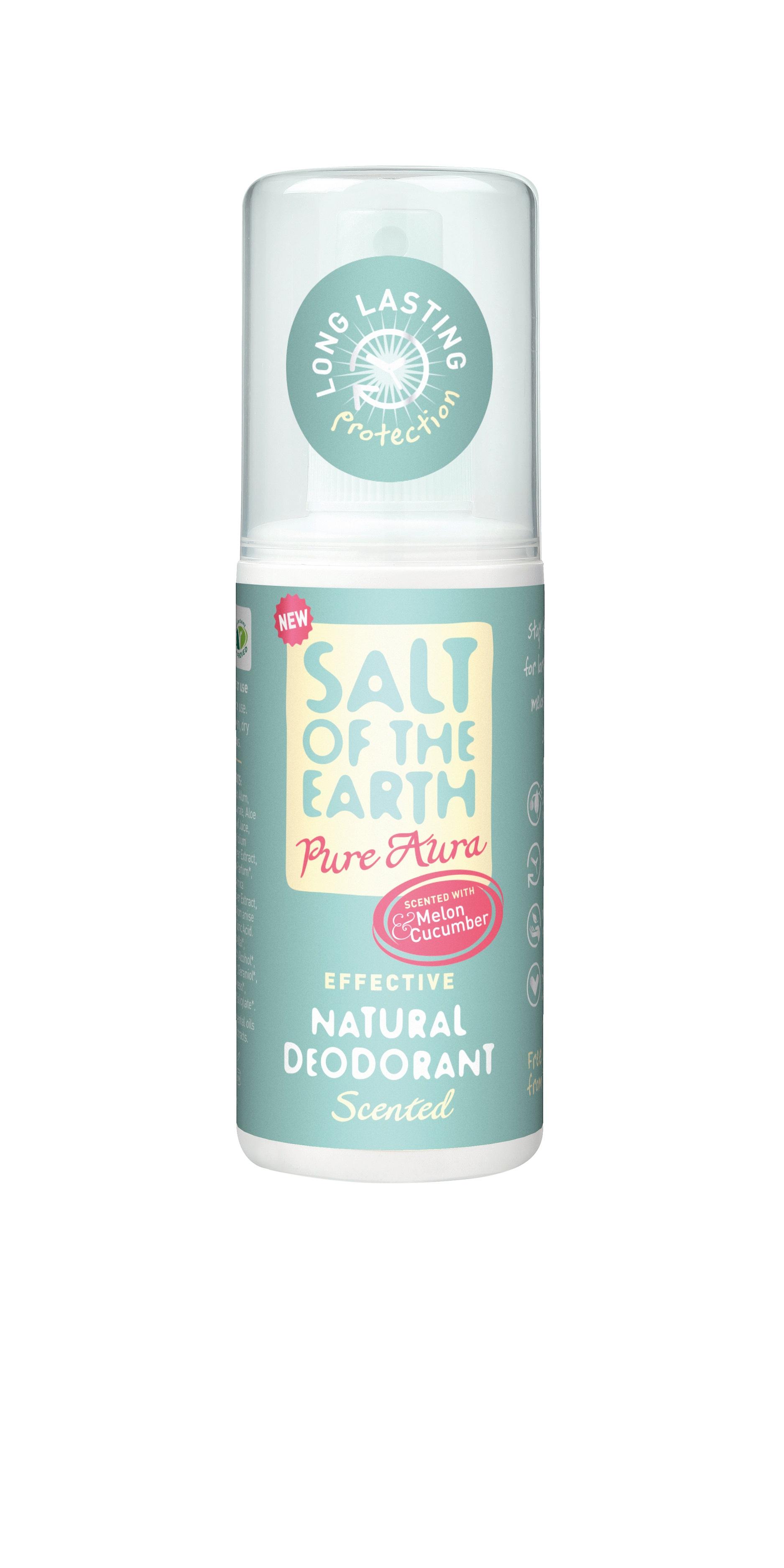 Melon and Cucumber Natural Deodorant Spray 100ml (Pure Aura)