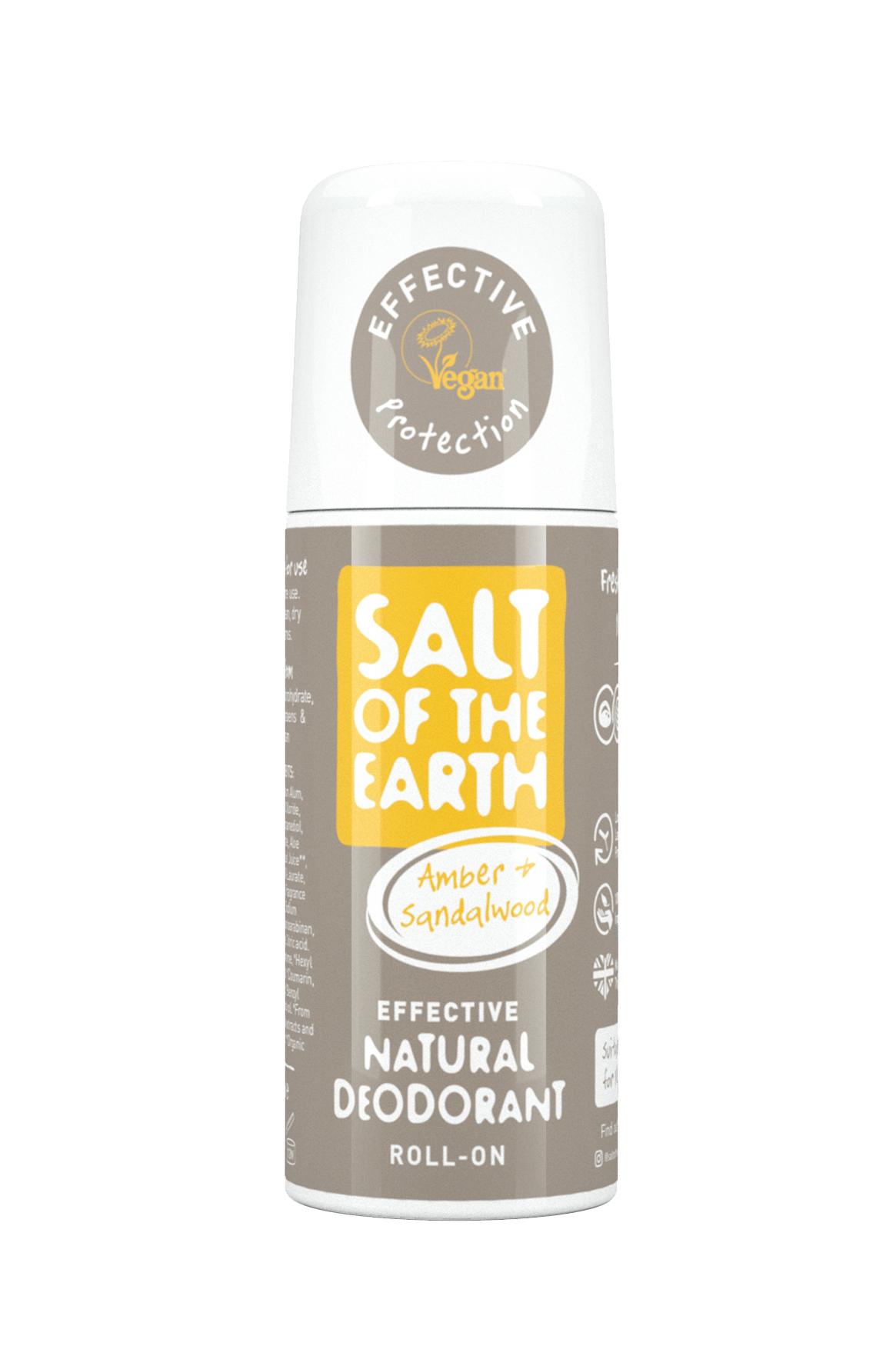 Amber & Sandalwood Natural Deodorant Roll-On 75ml