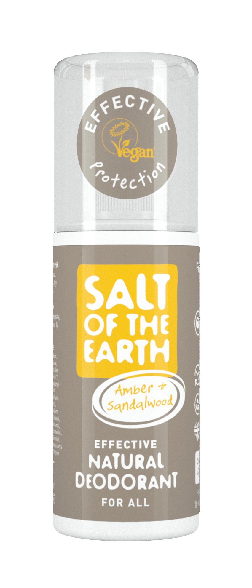 Amber & Sandalwood Natural Deodorant Spray 100ml