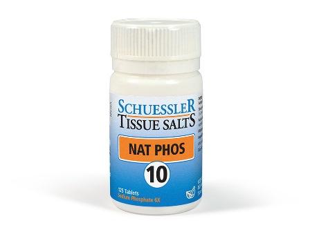 10 Nat Phos 125 tablets