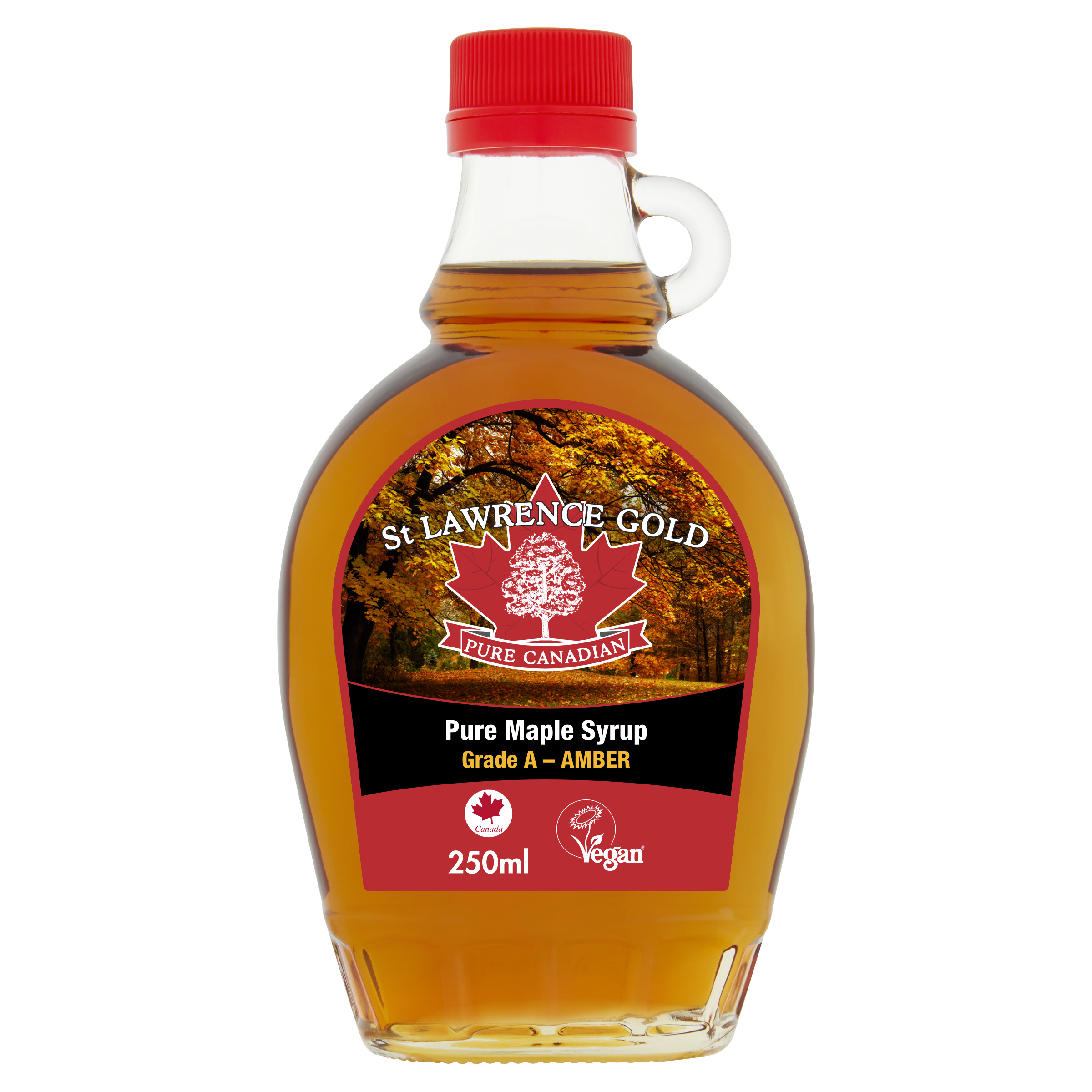 Pure Canadian Maple Syrup Grade A Amber 250ml