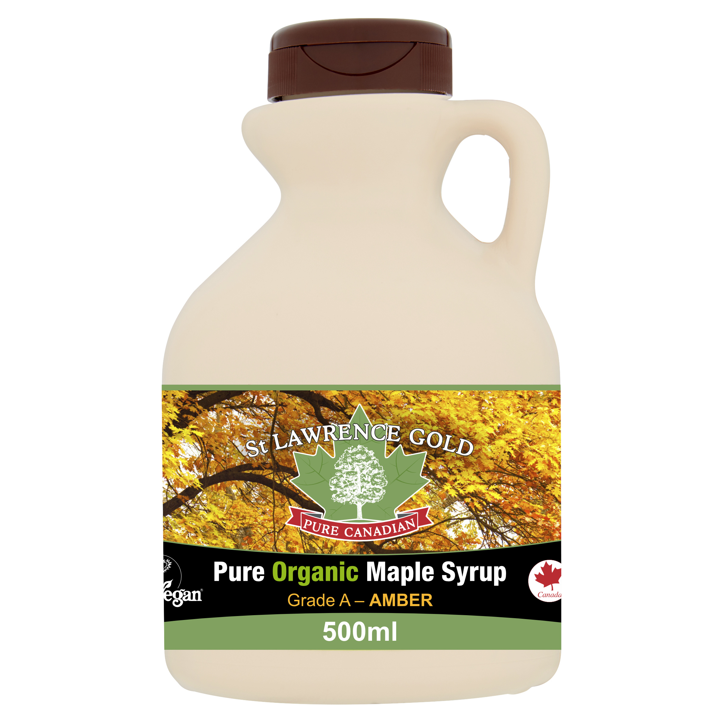 Pure Organic Canadian Maple Syrup Organic Grade A Amber Rich 500ml