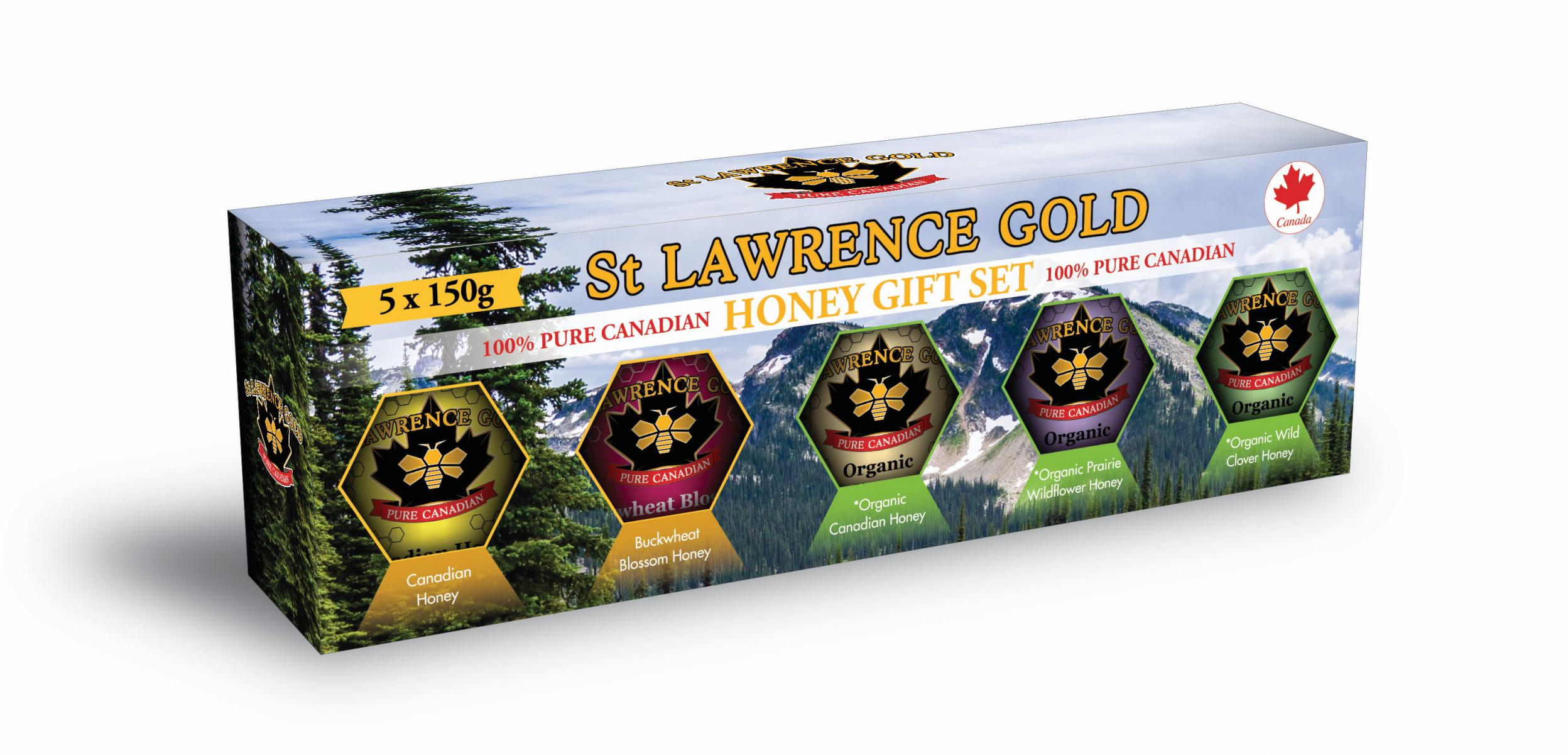 Pure Canadian Honey Gift Box (5 x 150g)
