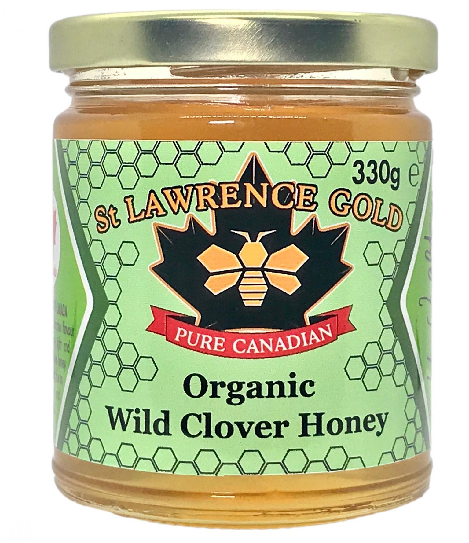 Pure Canadian - Organic Wild Clover Honey 330g