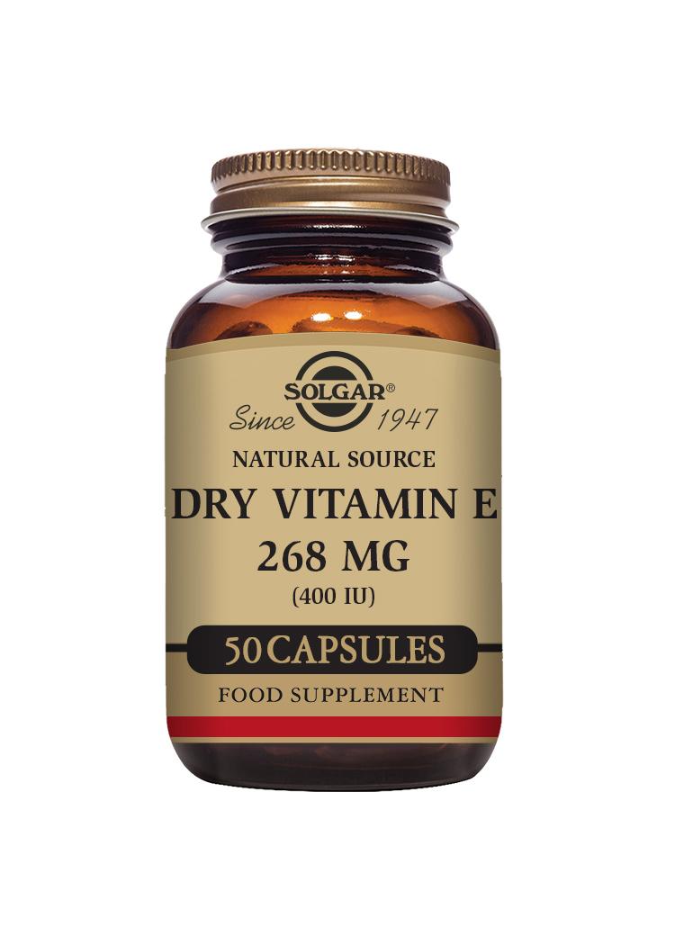 Dry Vitamin E 268mg (400iu) 50's (Currently Unavailable)