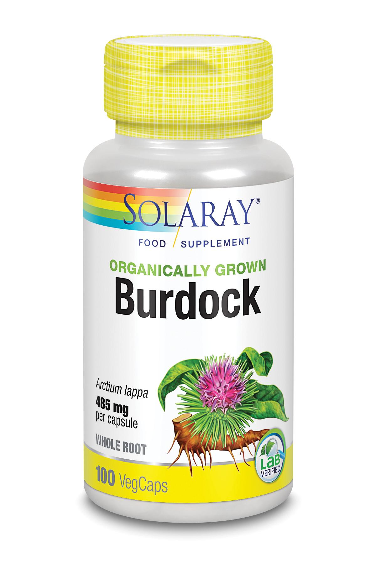 Organically Grown Burdock Root 100's