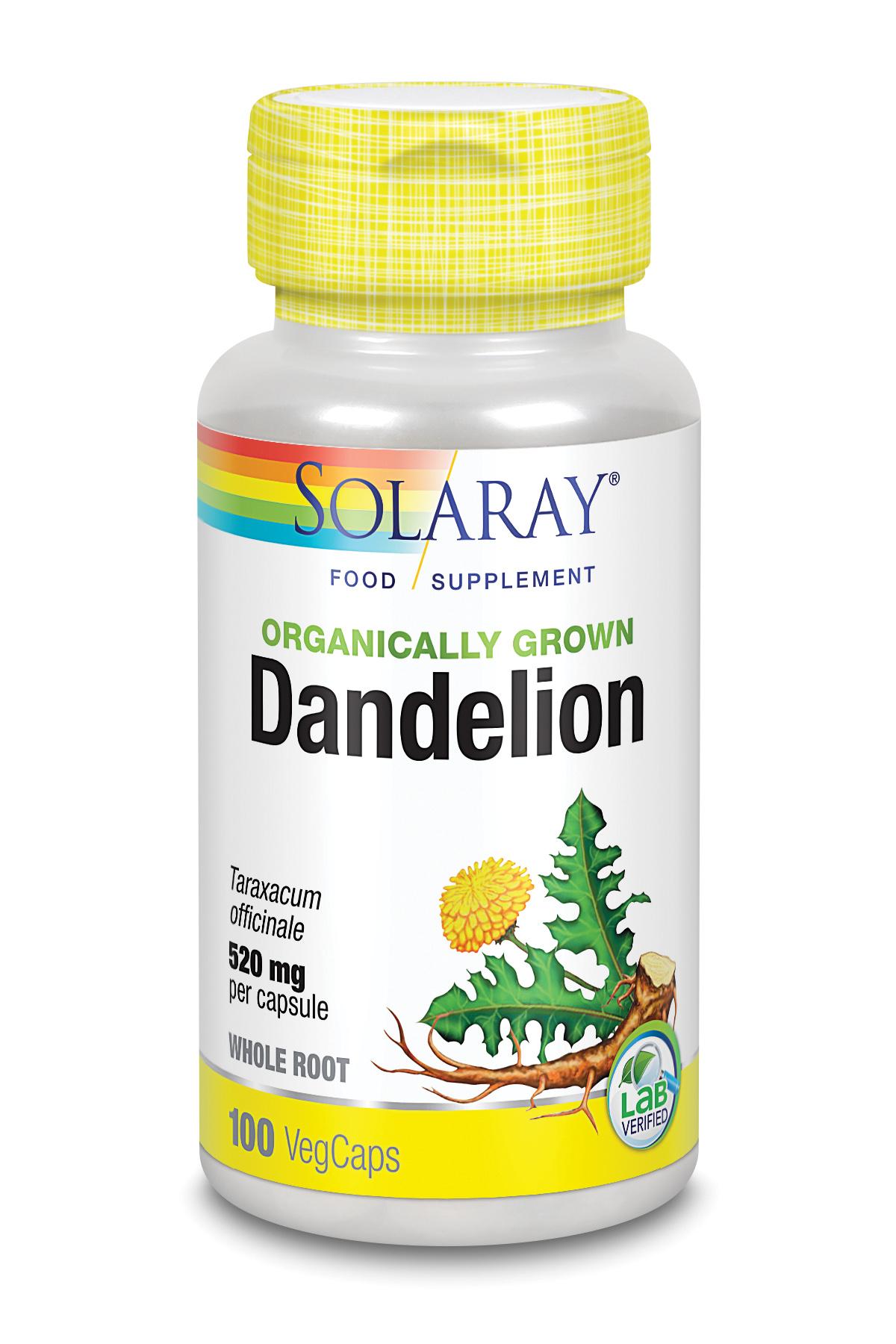 Organically Grown Dandelion Root 100's
