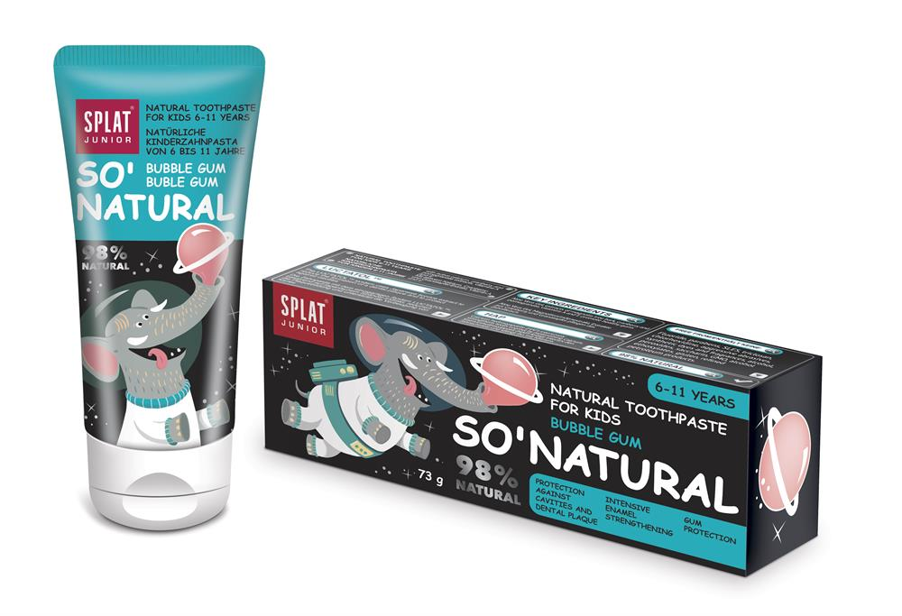 Natural Toothpaste for Kids Bubble Gum 73g