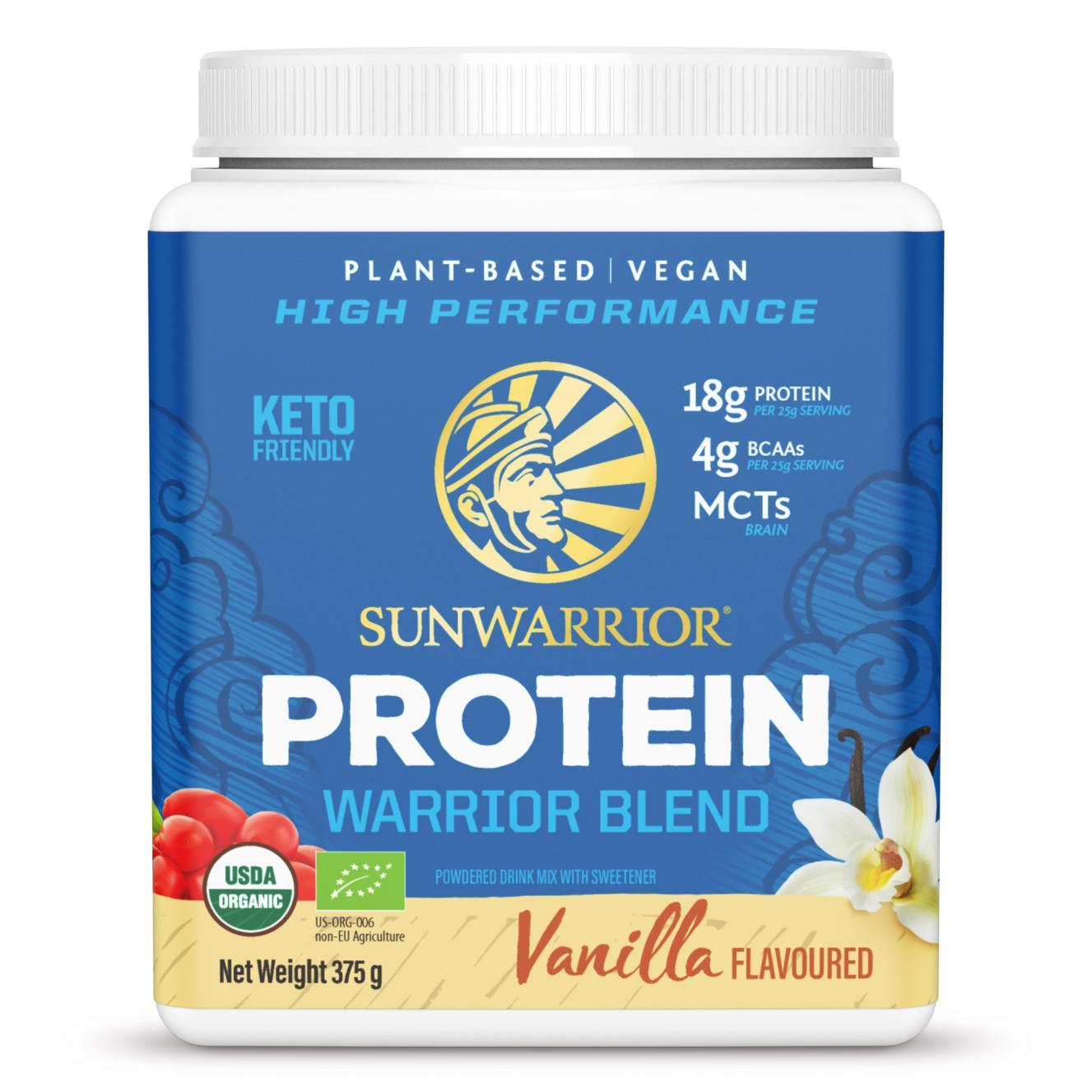Protein Warrior Blend Vanilla 375g (Blue Tub)