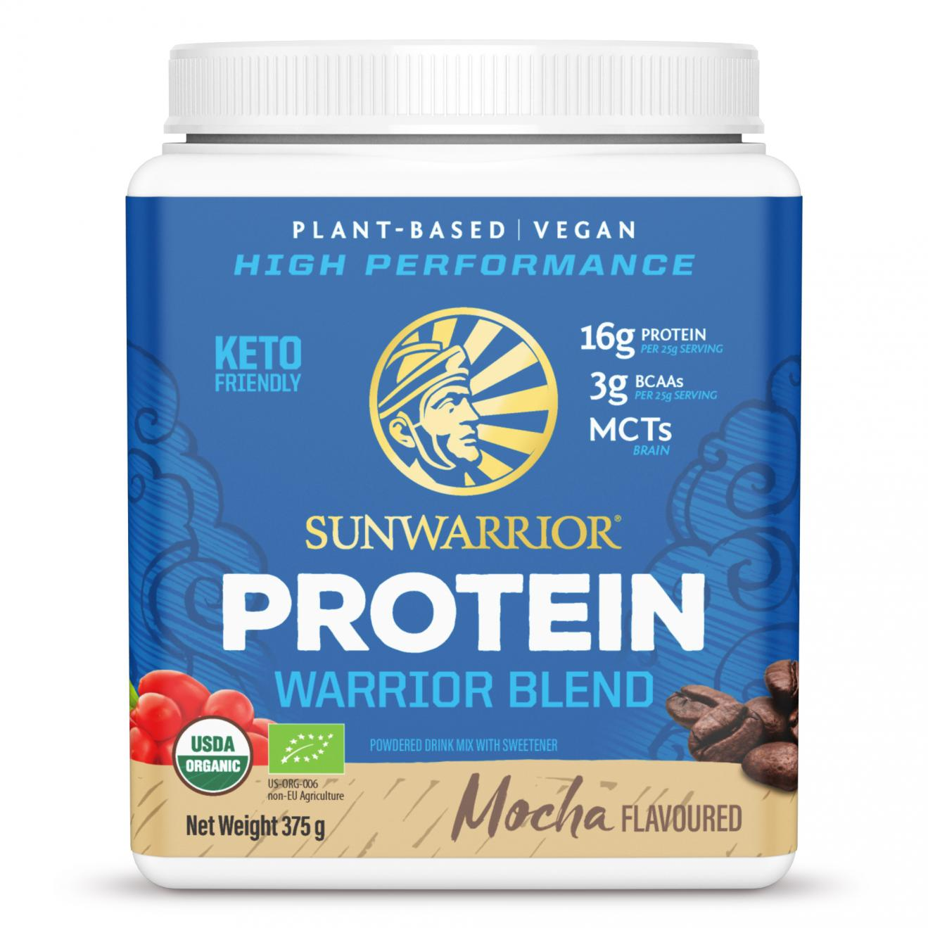Protein Warrior Blend Mocha 375g (Blue Tub) (Currently Unavailable)