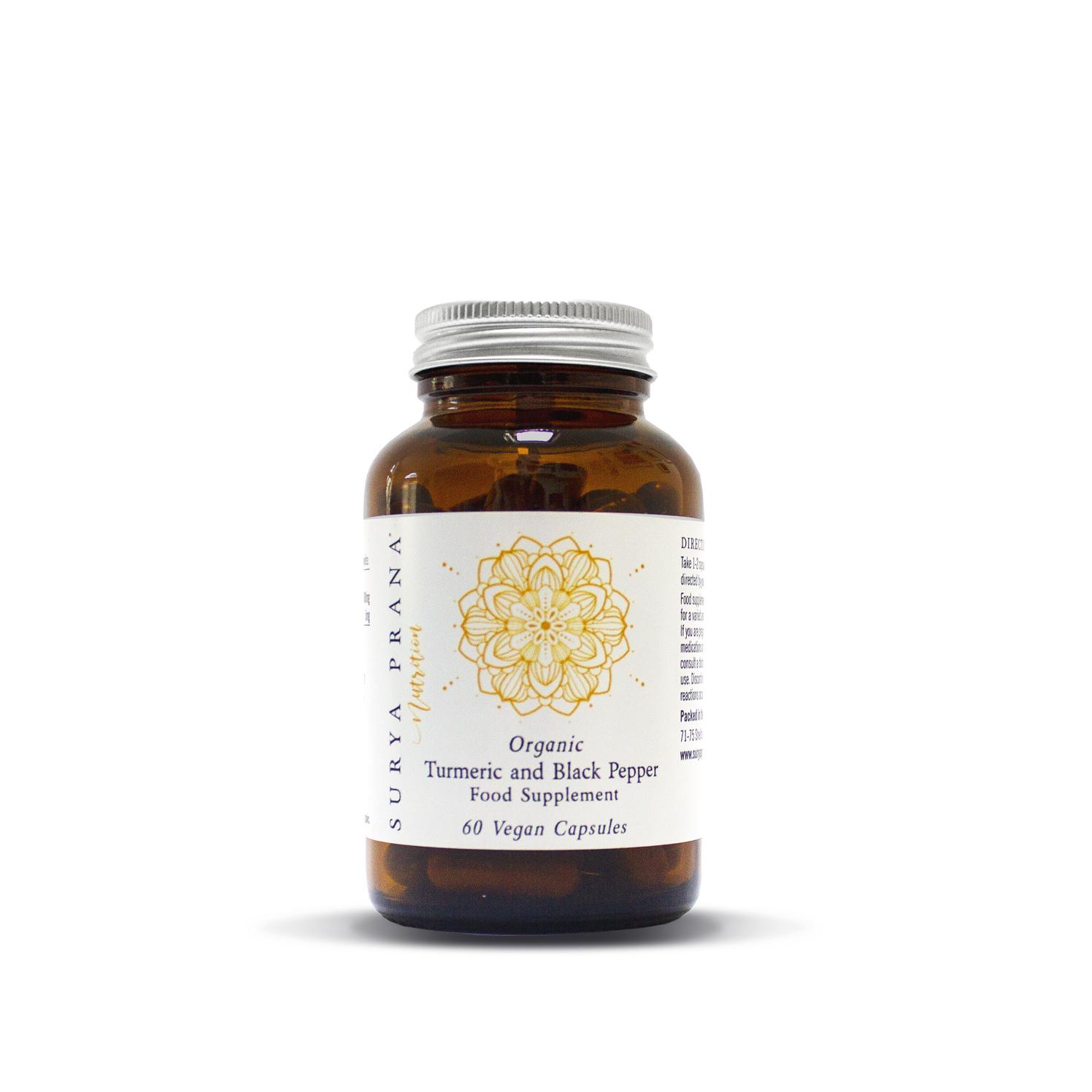 Organic Turmeric and Black Pepper (capsules) 60's