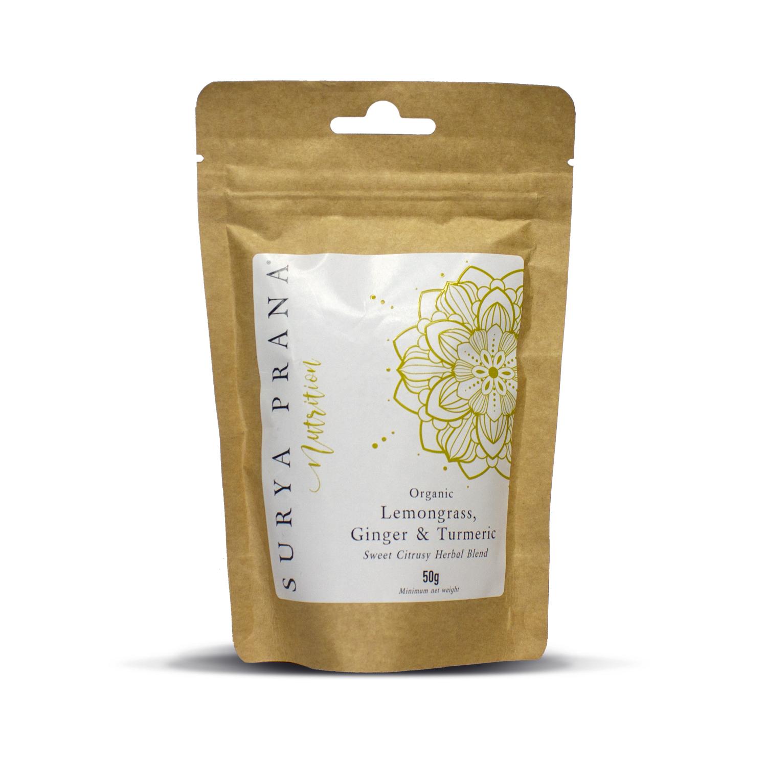 Organic Lemongrass and Ginger Tea 50g