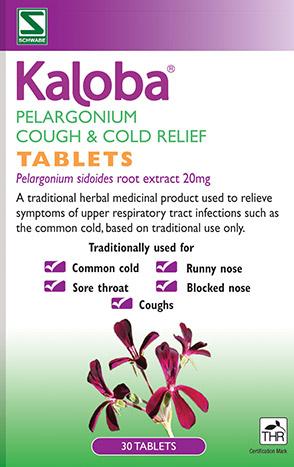Kaloba Pelargonium Cough & Cold Relief Tablets 30's