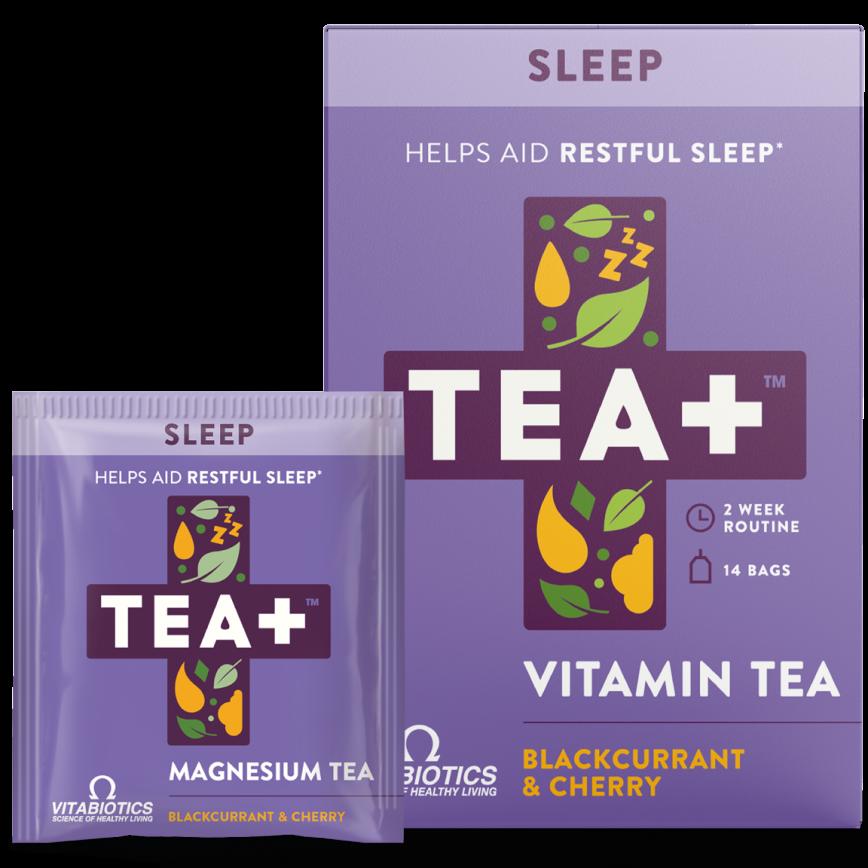 Tea+ Vitamin Tea Sleep Blackcurrant  & Cherry 14's