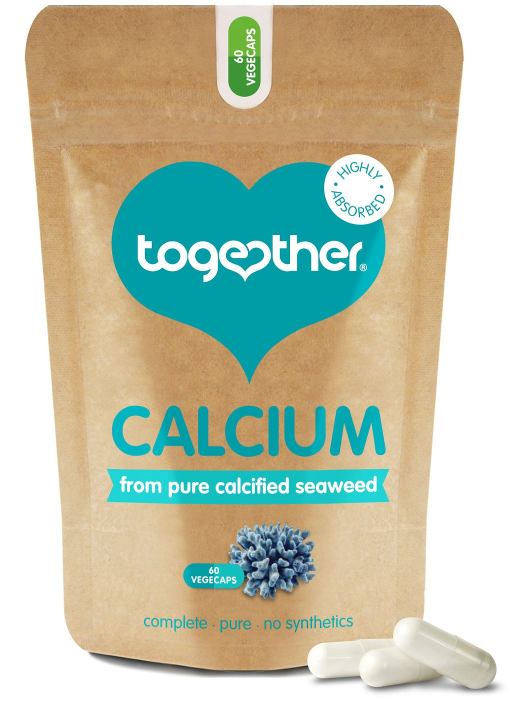 Calcium from Pure Calcified Seaweed 60's