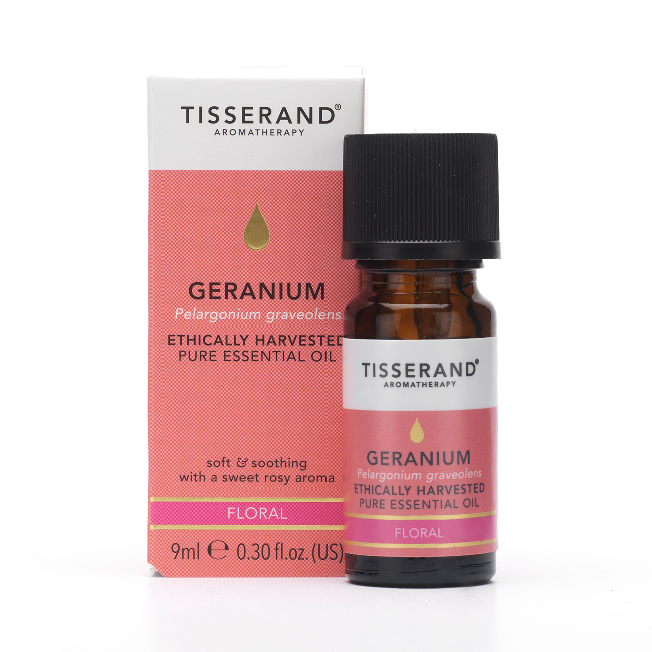 Geranium Ethically Harvested Pure Essential Oil 9ml