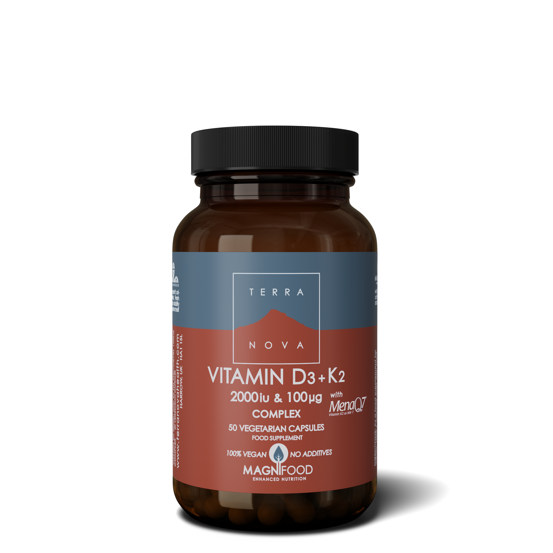 Vitamin D3 + Vitamin K2 2000iu & 100ug Complex 50's