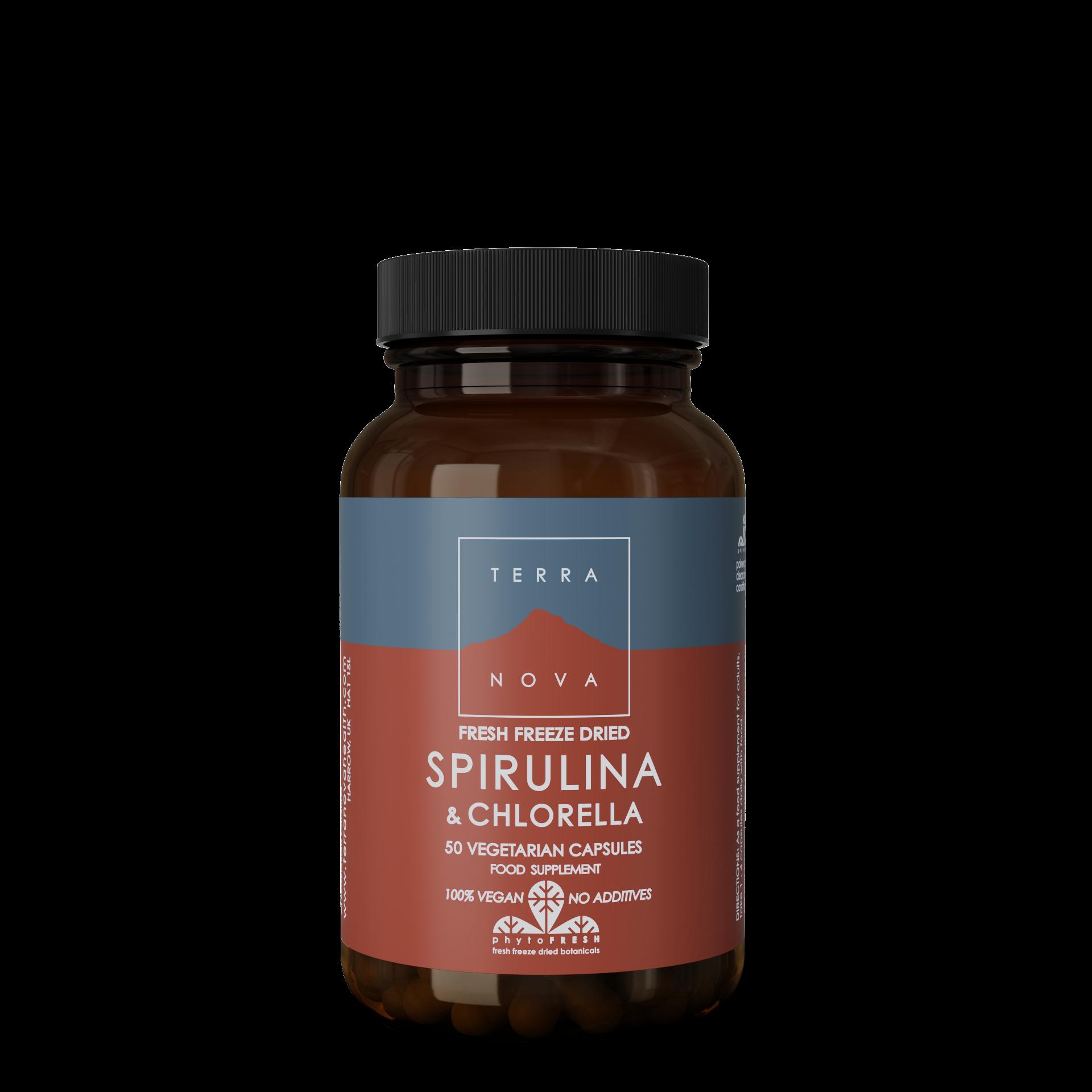 Spirulina & Chlorella Capsules 50's (Currently Unavailable)