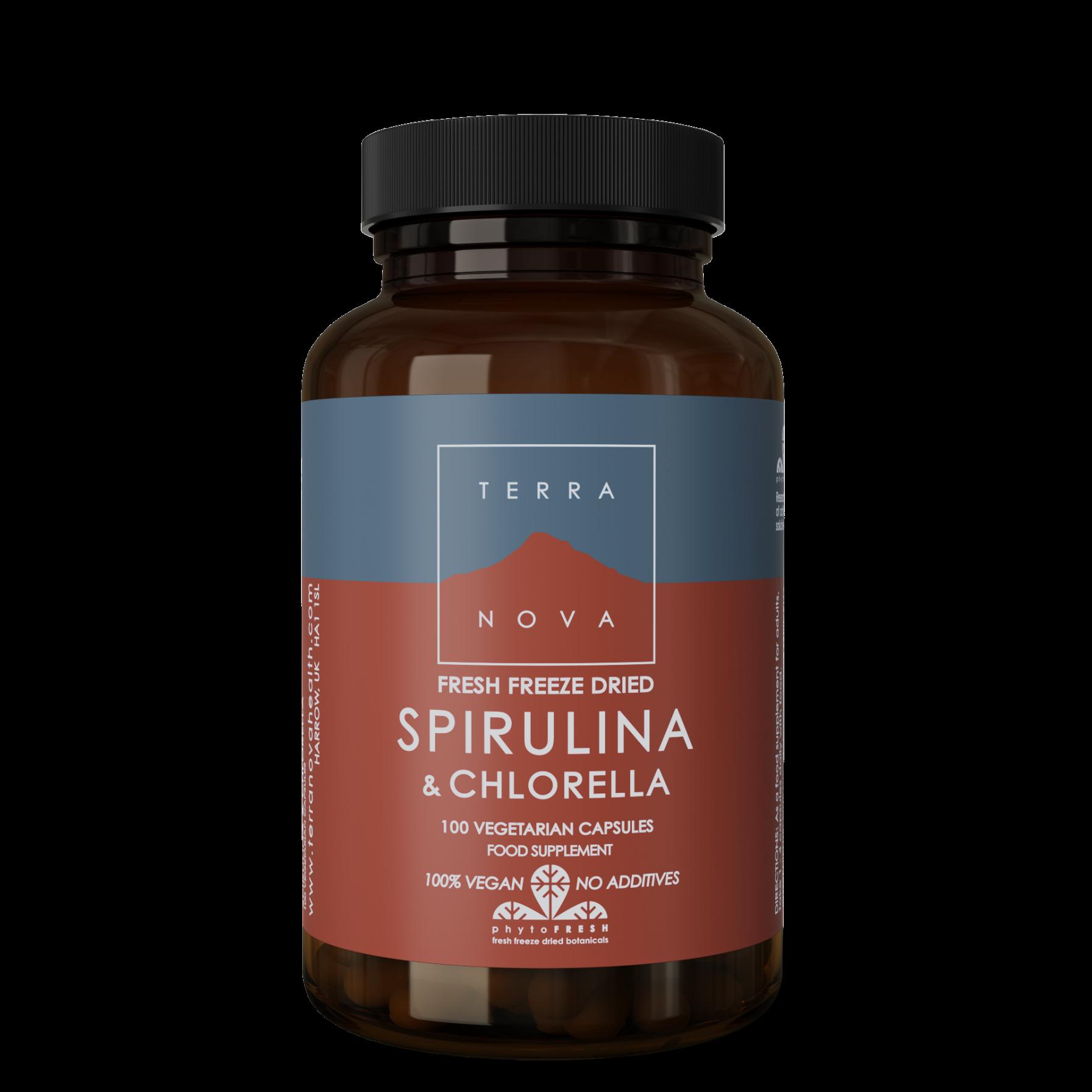 Spirulina & Chlorella Capsules 100's