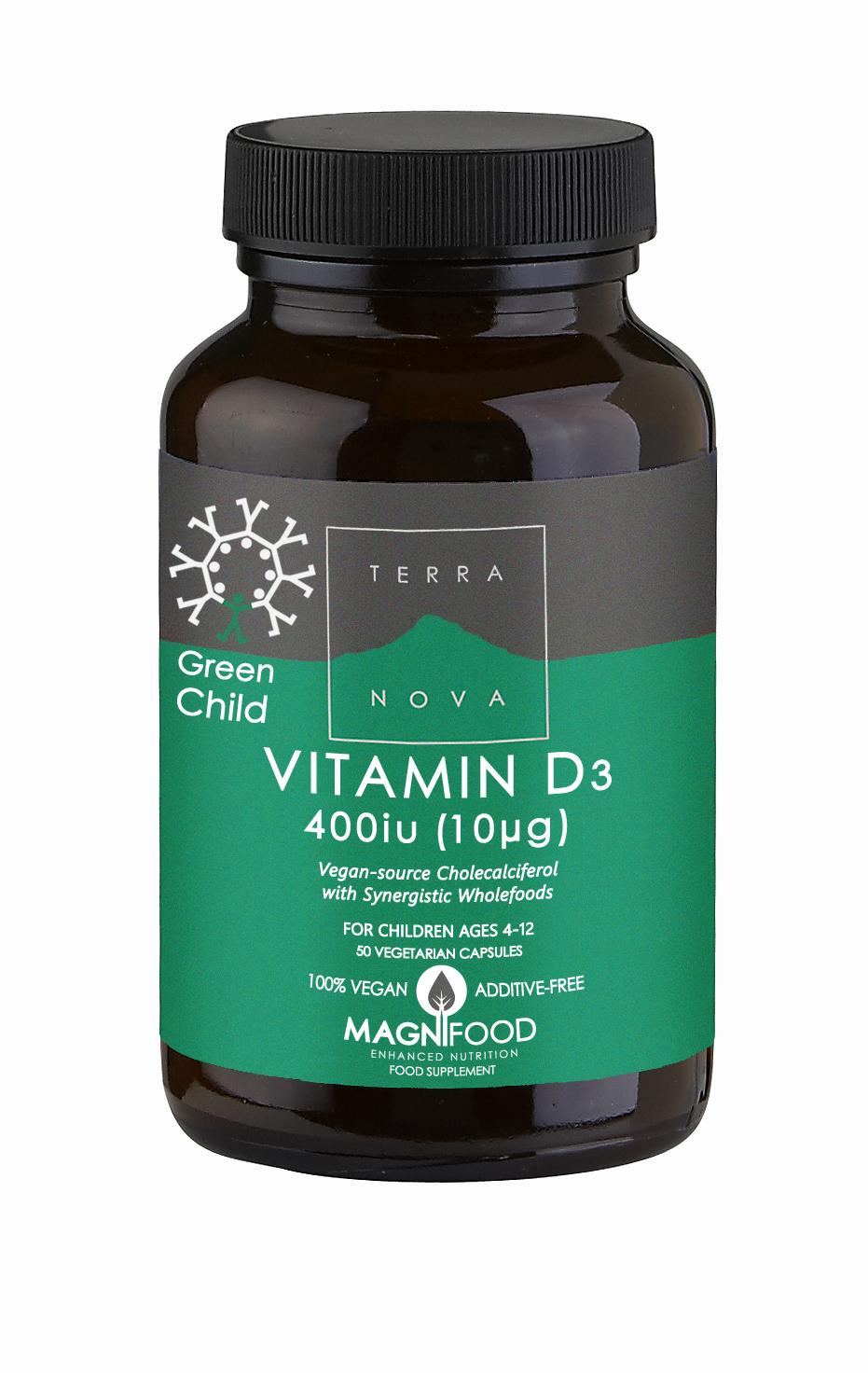 Green Child Vitamin D3 400iu 50's