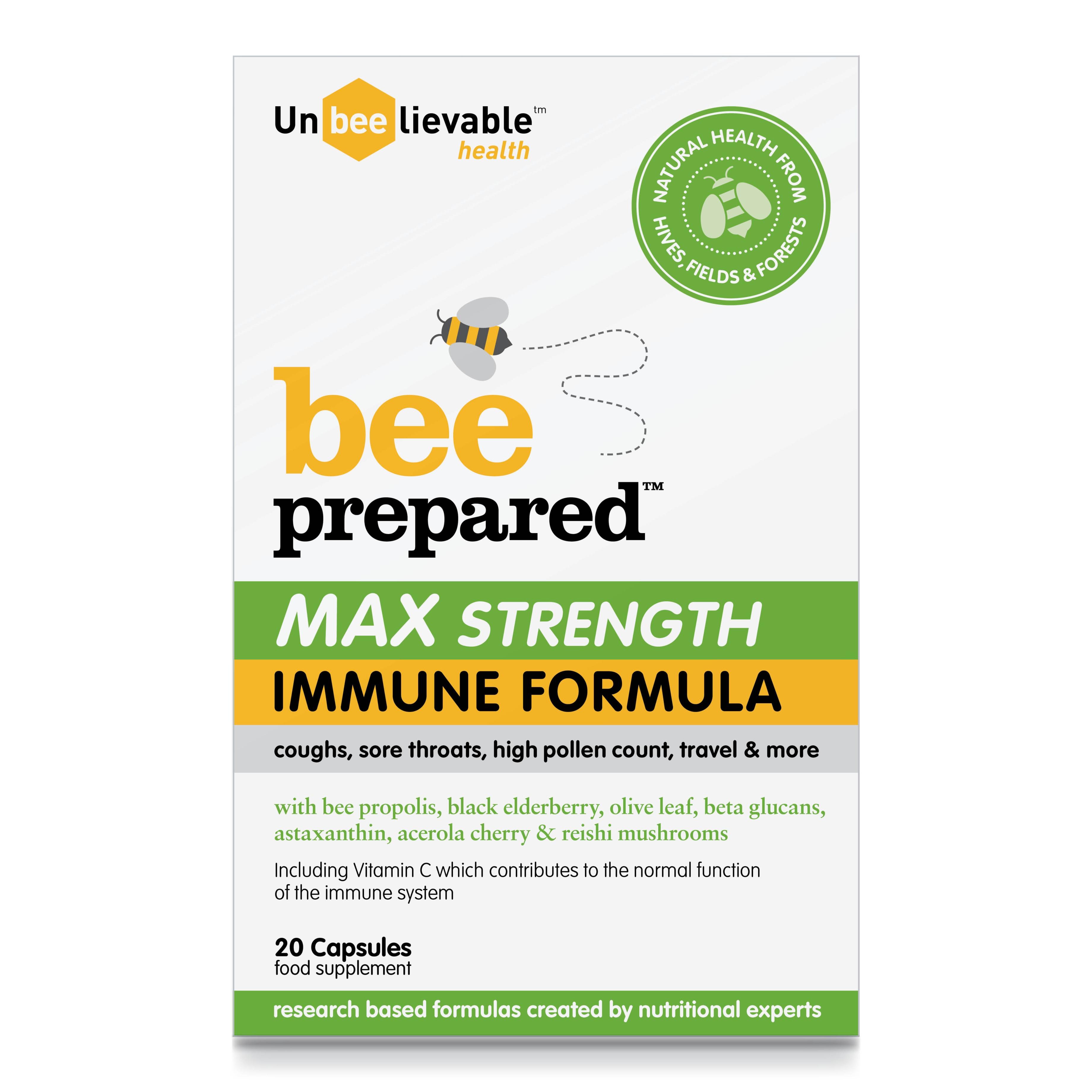 BEE Prepared MAX Strength Immune Formula 20's