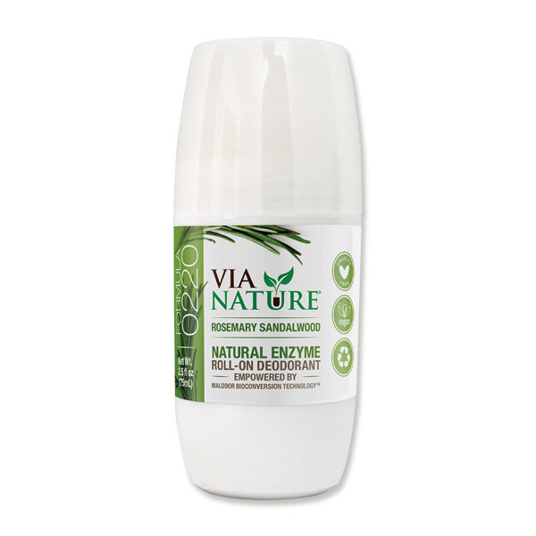 Rosemary & Sandalwood Natural Enzyme Roll On Deodorant 75ml