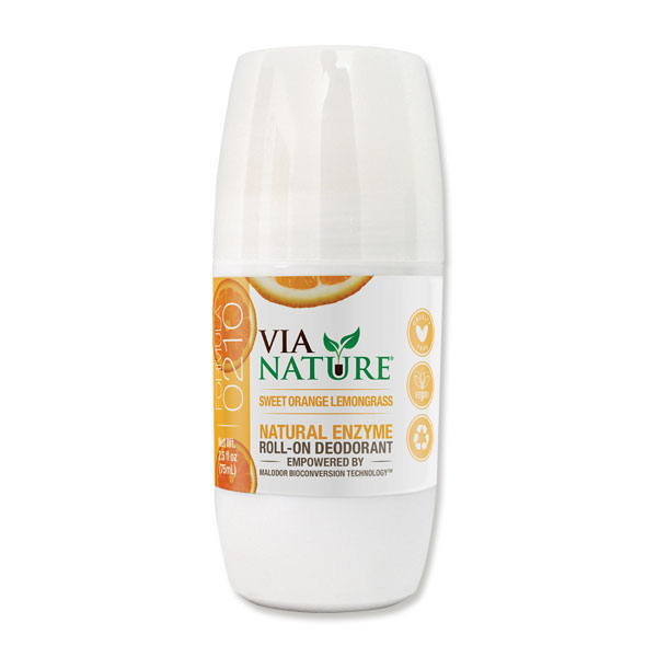 Sweet Orange & Lemongrass Natural Enzyme Roll On Deodorant 75ml