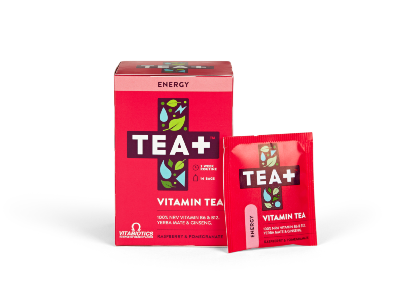 Tea+ Vitamin Tea Energy Raspberry & Pomegranate