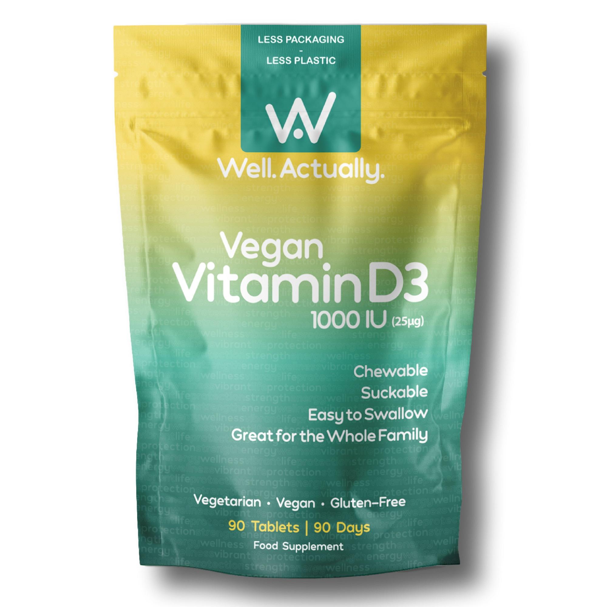 Vegan Vitamin D3 1000iu 90's