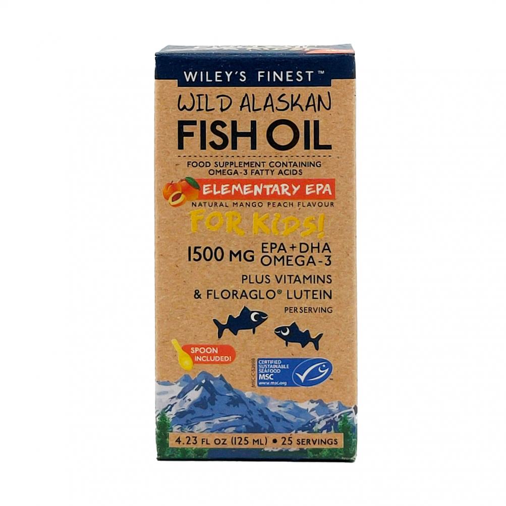 Wild Alaskan Fish Oil Elementary EPA for Kids 1500mg 125ml